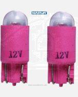 Narva L.E.D Wedge Globes (2) - Red, 12v T-10mm KW2.1 x 9.5d