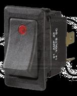 Narva 63047BL Illuminated Off/On Heavy-Duty Rocker Switch (Red)