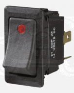 Narva 63048BL Illuminated Off/On Heavy-Duty Rocker Switch (Red)