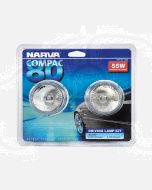 Compac 80 Oval Driving Lamp Kit 12 Volt 55W 80mm Wide - Blister Pack