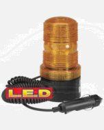 Narva 85375A L.E.D Quad Flash Strobe Light (Amber) with Magnetic Base, Cigarette Lighter Plug and 2.5m Spiral Lead