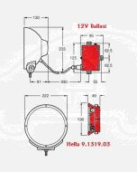 Hella Ballast 9.1319.03 12V DC to Suit Hella Predator Series Driving Lamps