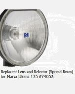 Narva 74053 Ultima 175 Broad Beam Driving Lamp Replacement Lens and Reflector