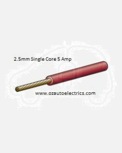 Narva 5812-100RD Red Single Core Cable 2.5mm (100m Roll)