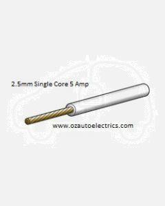 Narva 5812-100WE White Single Core Cable 2.5mm (100m Roll)