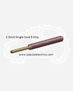 Narva 5812-100BN Brown Single Core Cable 2.5mm (100m Roll)
