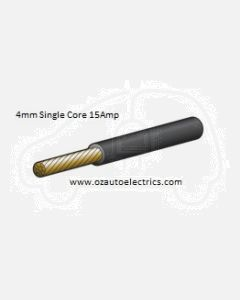 Black Single Core Cable 4mm - Cut to Length