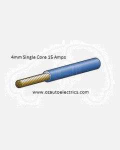 Blue Single Core Cable 4mm - Cut to Length