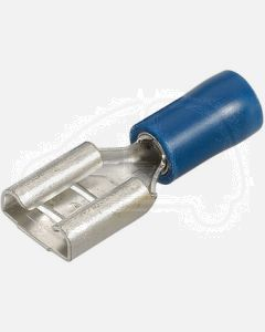 Narva 56137 Blue Female Blade Crimp Terminal, Flared Vinyl Insulated 4mm (Box of 100)