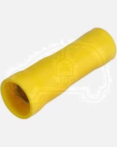 Narva 56157 Yellow Female Bullet Terminal, Flared Vinyl Insulated 5-6mm (Box of 50)