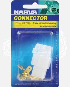 3 way Quick Connector Housing with Terminals - Male & Female (Blister Pack)