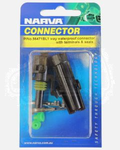 Narva 56471BL 1 way Waterproof Connector with Terminals and Seals (Blister Pack)