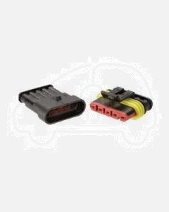 Narva 57525BL 5 way Waterproof AMP Connector - Male and Female (Blister Pack)