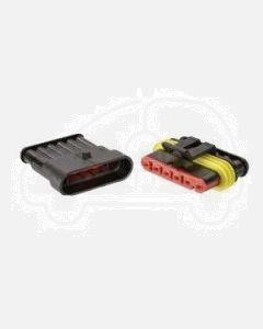Narva 57526BL 6 way Waterproof AMP Connector - Male and Female (Blister Pack)