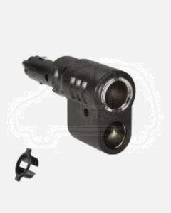 Narva 81040BL Cigarette Lighter Plug with Adjustable Twin Accessory Sockets
