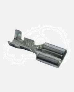 Quickcrimp Non Insulated Female Crimp Terminals - Tin Plated Brass, 8mm Tab, 1.3-2.0mm2 wire size