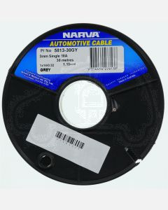Narva 5812-30GY Grey 2.5mm single core cable (30m Roll)