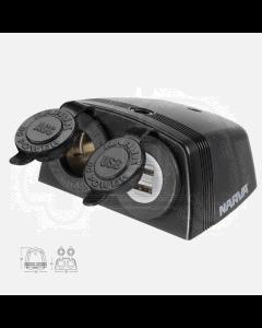 Narva 81168/25 Heavy-Duty Surface Mount Accessory/Dual USB Sockets (Box of 25)