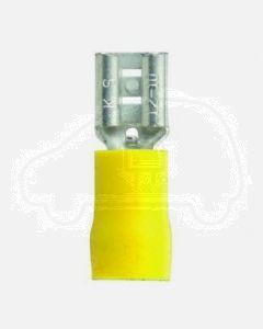 Quikcrimp QKC50 Yellow Vinyl, Female 6.3mm Blade Terminal