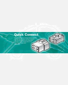 Narva 56258 8 Way Quick Connector Housing with Terminals - Male (Pack of 10)