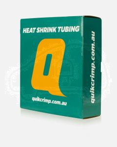 Quikcrimp Black Heat Shrink Dispenser Box - L10m, 6.4mm wide in Black